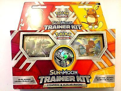 Pokemon TCG Sun and Moon Trainer Kit Lycanroc & Alolan Raichu: 2 x 30-Card Decks