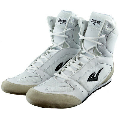 Everlast Hi-Top Pro Competition Boxing Shoes - White
