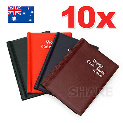 10X Coin Holder Collection Album Book Money Penny Storage Pockets Collecting