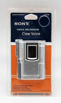 "BRAND NEW Sony TCM-150 Handheld Cassette Voice Recorder ""Clear Voice"""