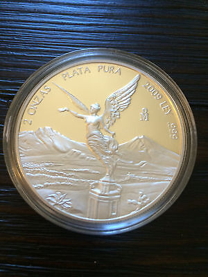 2009 Mexican Libertad Proof 2 oz Silver Coin in Sealed Capsule