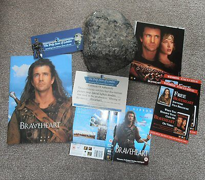 Braveheart 1995 Movie Film Prop Boulder with COA + brochure + photos