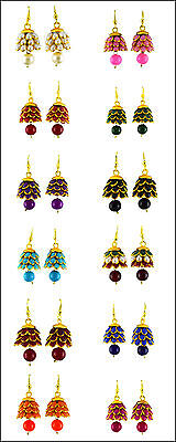 Jwellmart India Traditional Ethnic Bollywood Gold Polish Color Pachhi Earrings