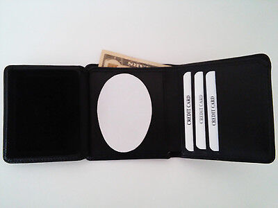 LAPD Police Badge Wallet RFID Recessed Oval Cut Out Tri Fold BIW09