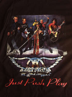 Official Aerosmith Just Push Play North American Tour Concert Shirt Vintage 2001