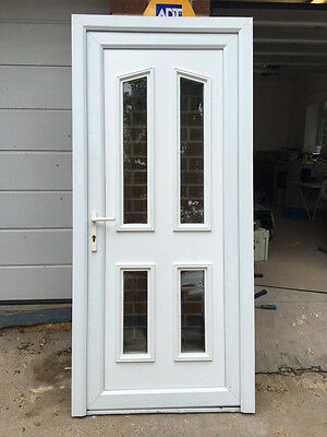 UPVC Door with frame - White 930mm Wide x 2030mm High