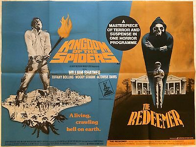 Kingdom Of The Spiders, The Redeemer, Original British Double Bill Movie Quad