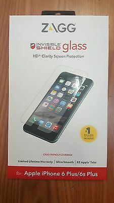 New Zagg Invisible Shield GLASS Screen Protector for iPhone 6 Plus / 6s Plus