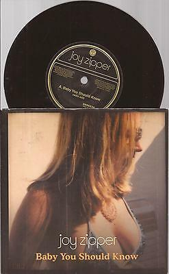 "Joy Zipper ""Baby You Should Know"" 7""  Vinyl  Picture Sleeve  2004"
