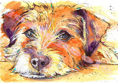 JACK RUSSELL Terrier PRINT of Original Watercolour Dog Picture Art by Josie P