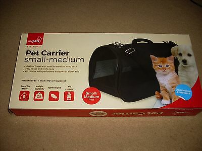 Dog Carrier, Pet Carrier, Brand New In Box, Black - Size Small To Medium