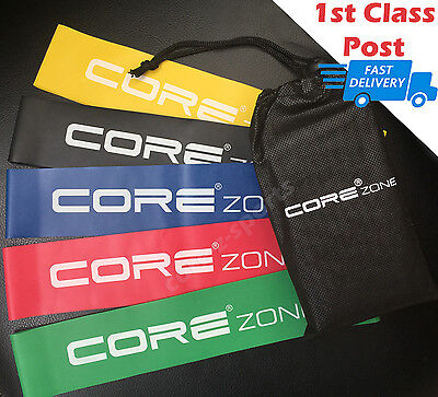 Resistance Exercise Loop Bands (Set of 5) - Rehab   Crossfit   Yoga   Glute Band