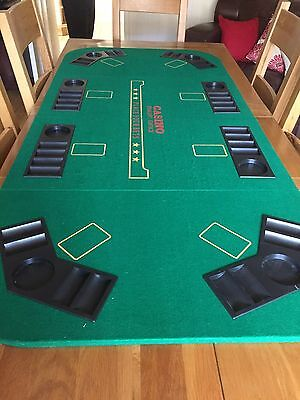 Folding Texas Holdem Folding Poker Table Top with Carrying Case
