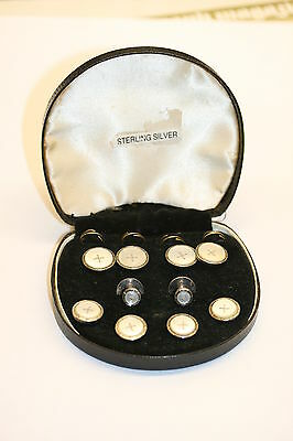 Sterling Silver / Mother of Pearl Dress Stud Set