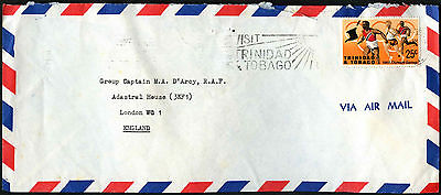 Trinidad & Tobago 1968 Commercial Air Mail Cover To UK #C42186
