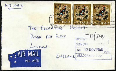 Australia 1968 Airmail Commercial Cover To UK #C42193