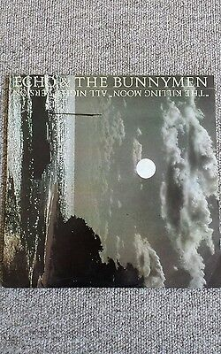 "Echo And The Bunnymen-'the Killing Moon' All Night Verson 1983 12"" Vinyl Single"