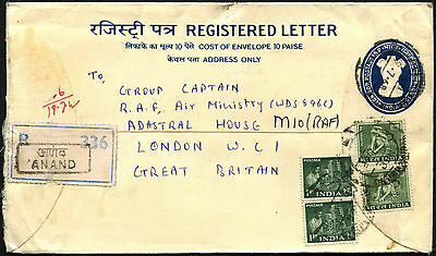 India 1968 Registered Letter Cover To UK #C42197
