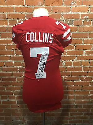 Maliek Collins 2014 Nebraska Cornhusker Game used Jersey