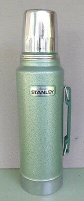 Stanley Aladdin Thermos Vacuum Bottle A-944Dh 1 Quart Stainless Steel Green