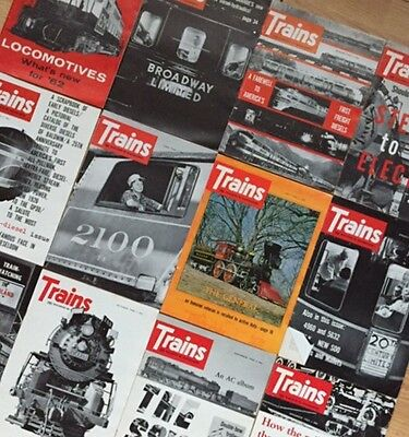 TRAINS: The Magazine of Railroading 1962 Complete Year 12 Issues!