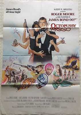 James Bond Octopussy 1983 Original UK One Sheet Roger Moore