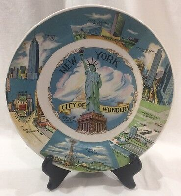 Vintage New York City NYC Souvenir Collector Plate United States