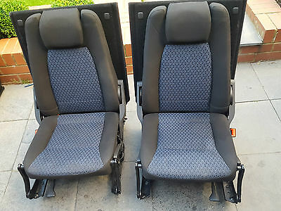Ford Galaxy Mk3  Set Of Two Rear Boot Fold Flat Seats With Sliding Rails