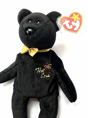 Ty Beanie Babies The End Bear 04265  Errors, Flat Tush Tag