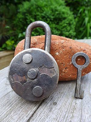 Vintage Padlock with one key, working order, hobby, collector
