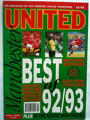 MINT Vol 1 No 7 Manchester United Official Magazine July 1993