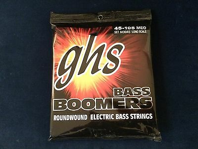 GHS Bass Boomers Electric Bass Strings Medium 045-105 Set M3045 Long Scale
