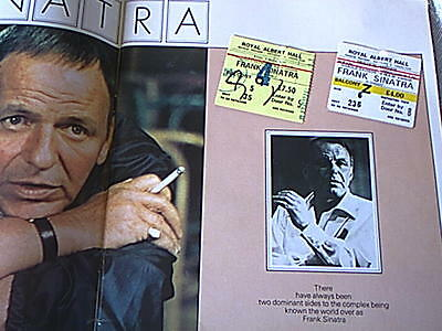 Frank Sinatra  Tour Programme.1977 + 2 Ticket Stubs. Royal Albert Hall