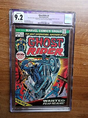 Ghost Rider # 1 CGC 9.2 OW/W (Marvel, 1973) 1st appearance Son of Satan Restored
