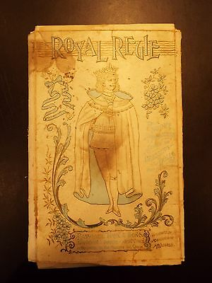 "Raphael Tuck & Sons ""Royal Regie"" Paper Doll and Outfits 1894"