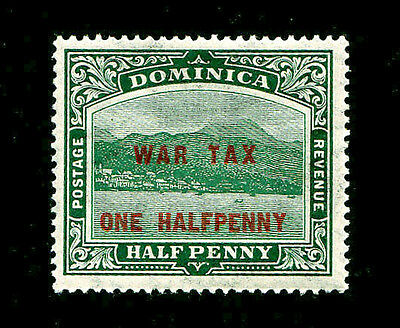 DOMINICA - Scott MR1 - 1916 1/2p On 1/2p Green War Tax Stamp - Mint MNH