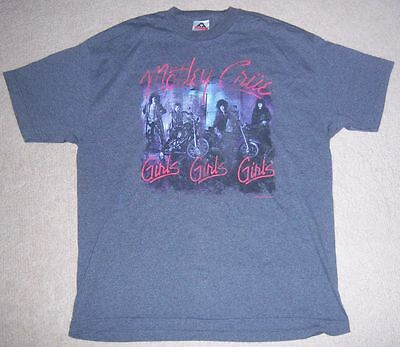 Very Rare AUTHENTIC/Licensed MOTLEY CRUE GIRLS GIRLS Shirt XL Concert/Tour l