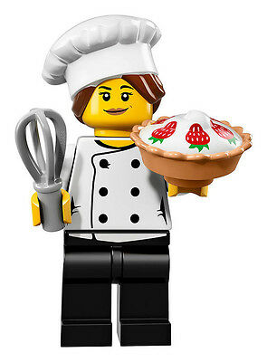 Lego Minifigure Series 17 - Gourmet Chef 100% New(Factory Sealed)