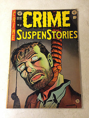 Crime Suspenstories #20 Super Key, Soti, Hanging Cover, Ec, 1953 Davis Kamen