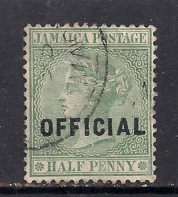 Jamaica 1890 - 91 QV 1/2d Green Official Ovpt SG O3 ( L359 )