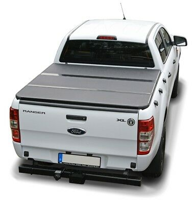Ford Ranger T6 2012- New Style Tri Fold Hard Tonneau Cover 4x4 Non Drill