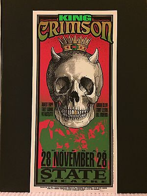 KING CRIMSON 1995 Original Rock Concert Poster Print SIGNED MARK ARMINSKI RARE!