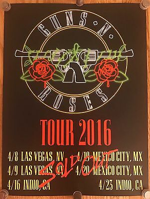GUNS N' ROSES Poster SOLD OUT 2016 TOUR Not in This Lifetime Lithograph RARE