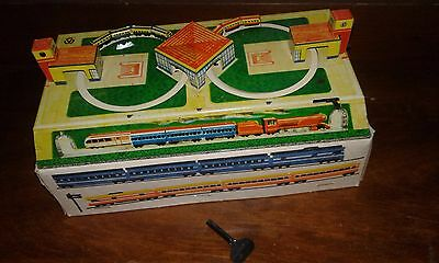 Collectors Russian Windup Tin Train Track Toy