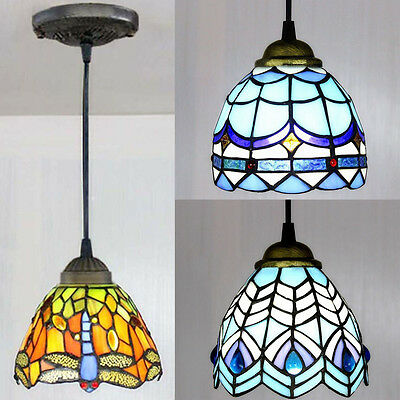 Stained Glass Tiffany Style Hanging Pendant Light Ceiling Lighting Lamp Fixture