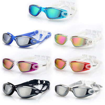 Swimming Googles Clear Glasses Anti Fog UV Protect Earplug Swim Pool Water Sport