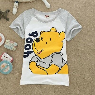 baby kids children short sleeve Tee T shirt summer top clothes - pooh 4-5 years