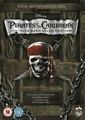 Pirates of the Caribbean 1-4 Box Set [DVD] - DVD  MUVG The Cheap Fast Free Post
