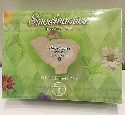 SNOWBUNNIES Department 56:SHEEP PICTURE FRAME-26366S-NEW IN BOX!
