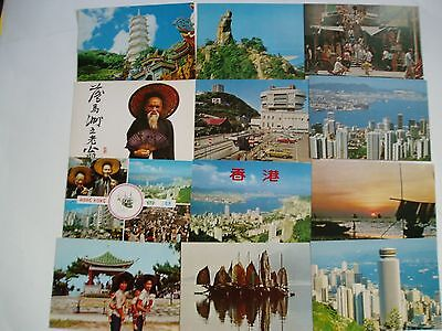 22 Vintage Never Used Hong Kong Postcards - All Color & Very Good Condition!
